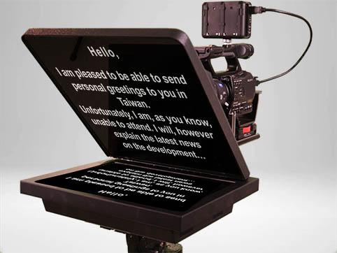 Teleprompter vor der Kamera